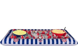 Inflatable Striped Nautical Buffet Cooler