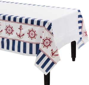 Striped Nautical Table Cover