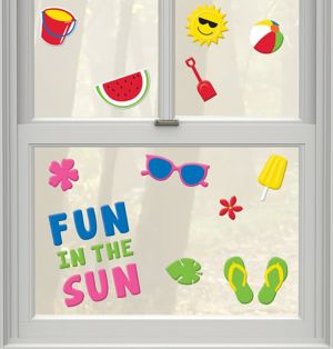 Fun in the Sun Summer Gel Cling Decals 23ct