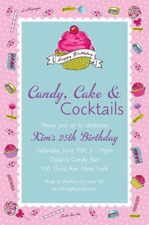 Custom Birthday Sweets Invitation