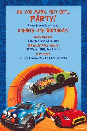 Custom Hot Wheels Wild Racer Invitation