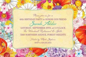 Custom Spring Garden Border Invitation