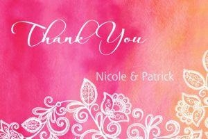 Custom Ombre Floral Warm Thank You Note