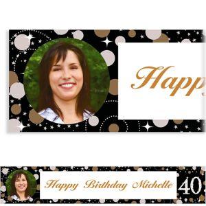 Custom Sparkling Celebration 40 Photo Banner