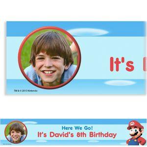 Custom Super Mario Photo Banner