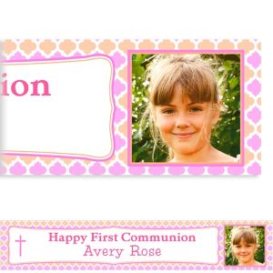 Custom Simple Cross and Diamonds Photo Banner