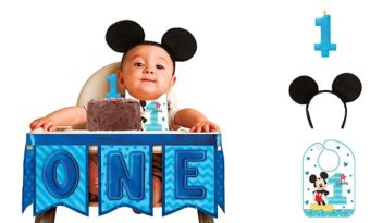 1st Birthday Mickey Mouse Smash Cake Kit
