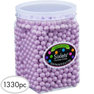 Lavender Chocolate Sixlets 1330pc