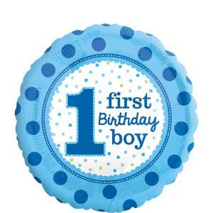 1st Birthday Balloon - Polka Dot Boy