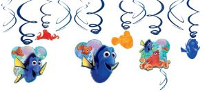 Finding Dory Swirl Decorations 12ct