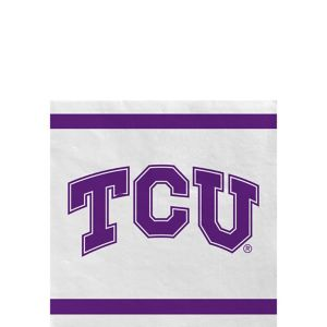 TCU Horned Frogs Beverage Napkins 24ct