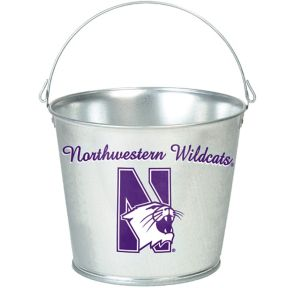 Northwestern Wildcats Galvanized Bucket