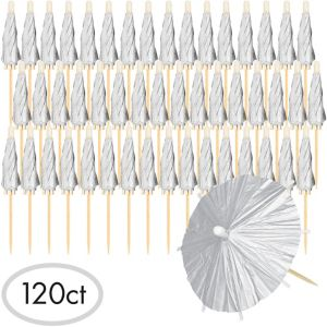 Silver Umbrella Picks 120ct