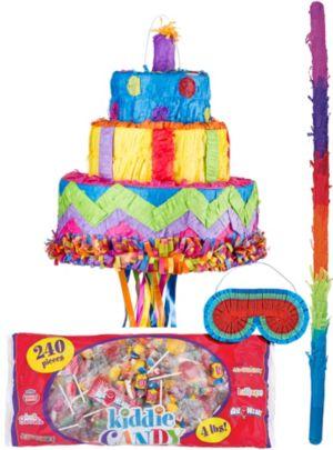 Pull String Birthday Cake Pinata Kit