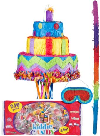 Pull String Birthday Cake Pinata Kit