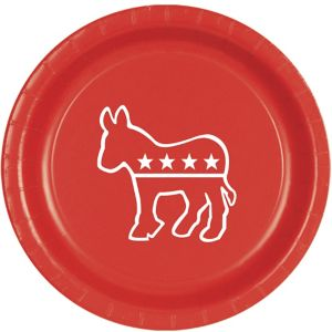 Red Democrat Lunch Plates 8ct