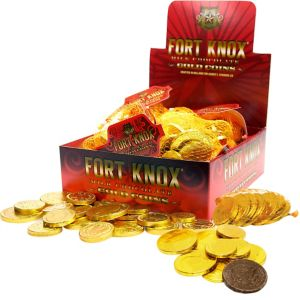 Gold Chocolate Coin Bags 18ct