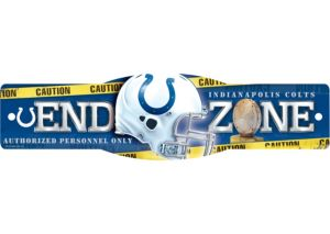 Indianapolis Colts End Zone Sign