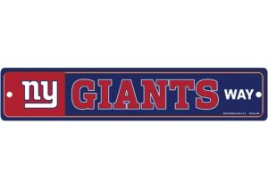 New York Giants End Zone Sign
