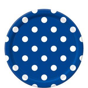Royal Blue Polka Dot Lunch Plates 8ct