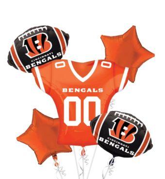 Cincinnati Bengals Jersey Balloon Bouquet 5pc