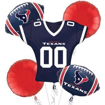 Houston Texans Jersey Balloon Bouquet 5pc