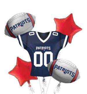 New England Patriots Jersey Balloon Bouquet 5pc