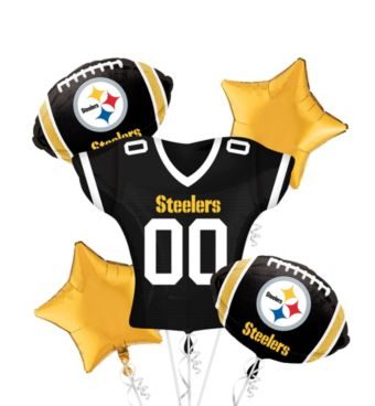 Pittsburgh Steelers Jersey Balloon Bouquet 5pc