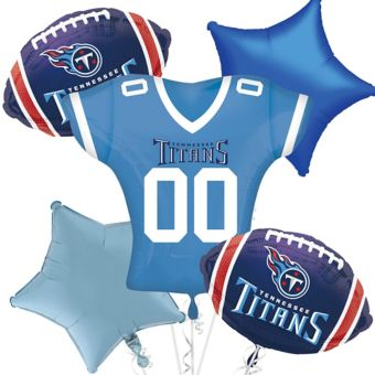 Tennessee Titans Jersey Balloon Bouquet 5pc