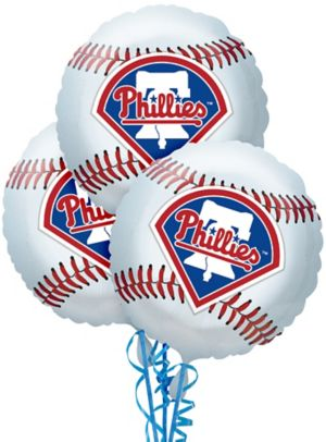 Philadelphia Phillies Balloons 3ct - Baseball