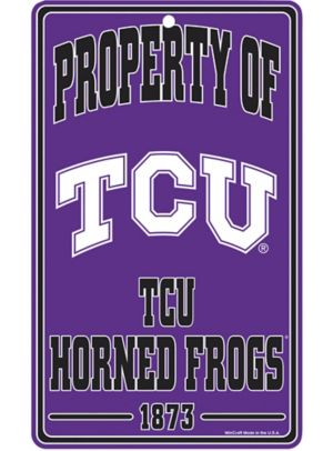 Property of TCU Horned Frogs Sign