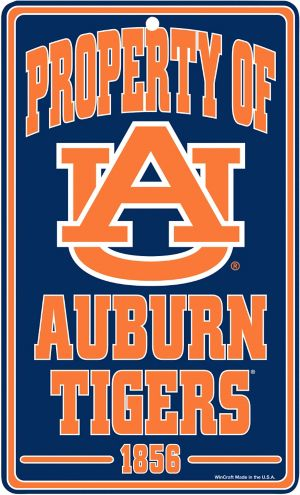 Property of Auburn Tigers Sign