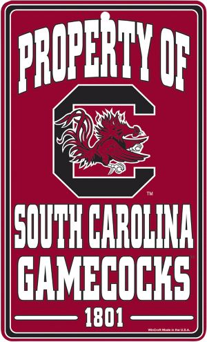 Property of South Carolina Gamecocks Sign