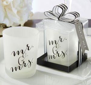 Mr. & Mrs. Tealight Candle Holders