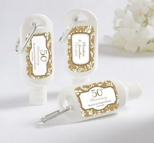 PERSONALIZED Sunscreen Wedding Favors (Printed Label) (Gold Elegant Scroll)