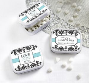 PERSONALIZED Wedding Mint Tins with Candy (Printed Label) (Always & Forever Happy Anniversary)
