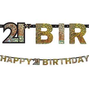Prismatic 21st Birthday Banner - Sparkling Celebration