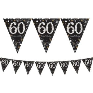 Prismatic 60th Birthday Pennant Banner - Sparkling Celebration