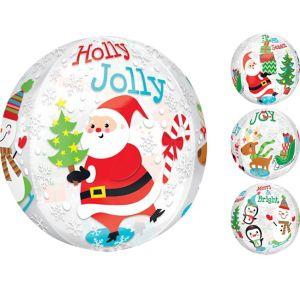 Christmas Balloon - See Thru Orbz Christmas Scene