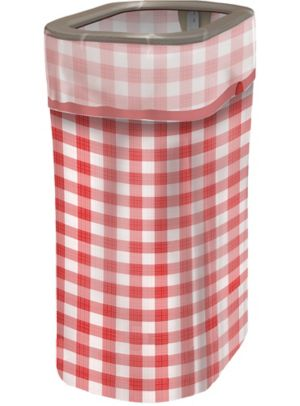 Gingham Pop-Up Trash Bin