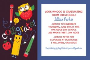 Custom Schoolhouse Chalkboard Graduation Invitation