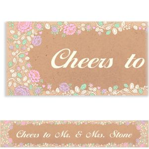 Custom Rustic Floral Wedding Banner