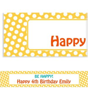 Custom Yellow Birthday Banner
