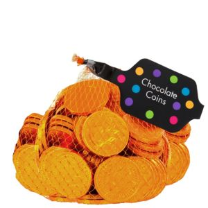 Small Orange Chocolate Coins 125pc