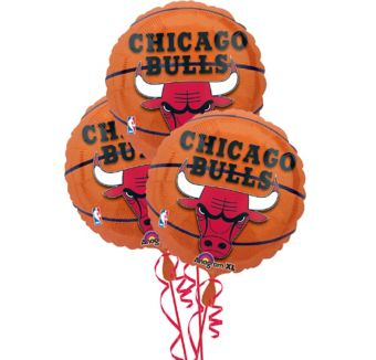Chicago Bulls Balloons 3ct - Basketball