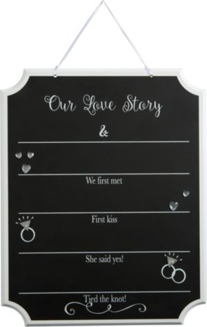 Our Love Story Wedding Chalkboard Sign