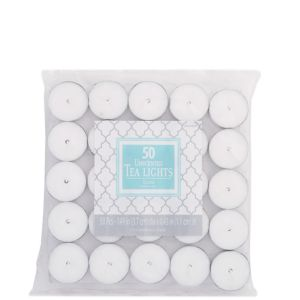 White Tealight Candles 50ct