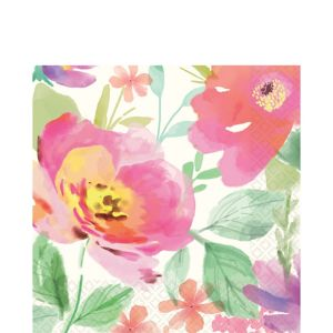 Watercolor Floral Lunch Napkins 36ct