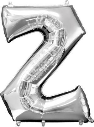 Giant Silver Letter Z Balloon