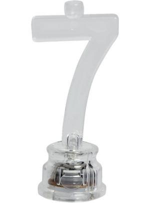Light-Up Number 7 Candle Holder